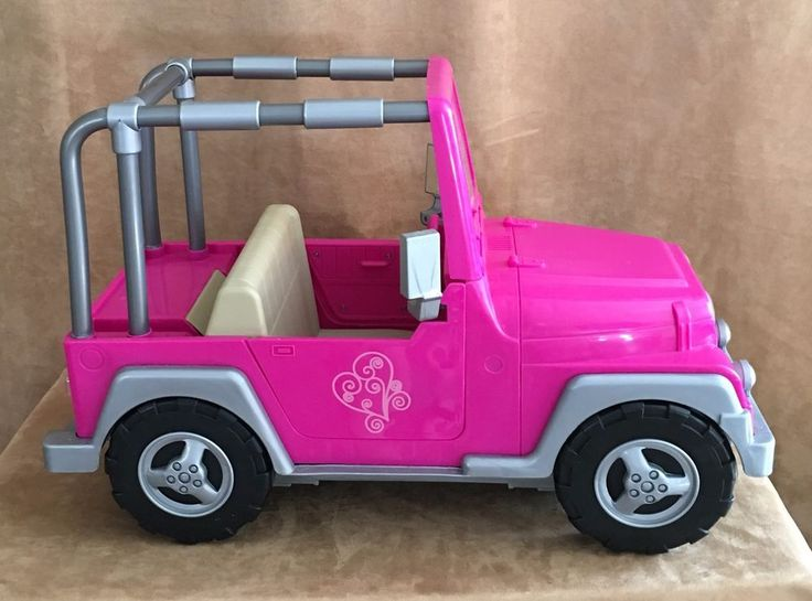 Details About Our Generation Doll Og Pink Jeep Vehicle