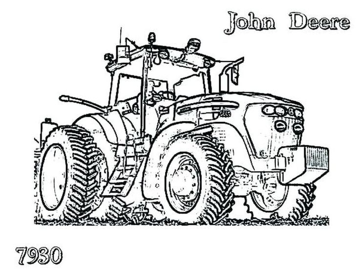 Printable Tractor Coloring Pages For Kids (com imagens ...