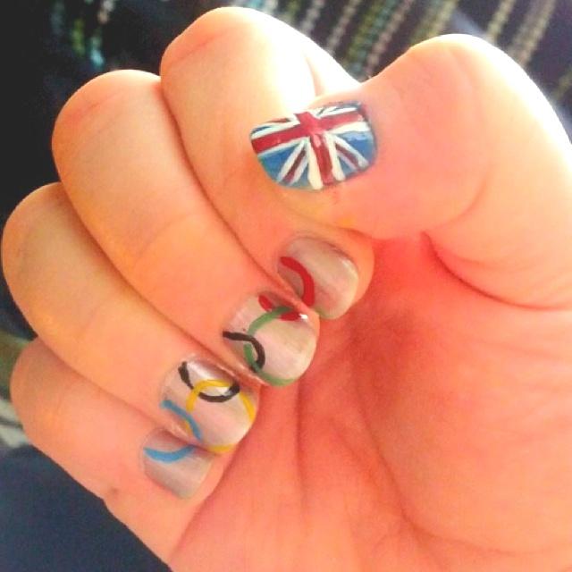 2012 Summer Olympics nail art: Decorative Nails, 2012 Olympics, Nail Technicians, Games Nails, 2012 Summer, Designer Nails, Creative Nails, Art Marketing, Nail Art