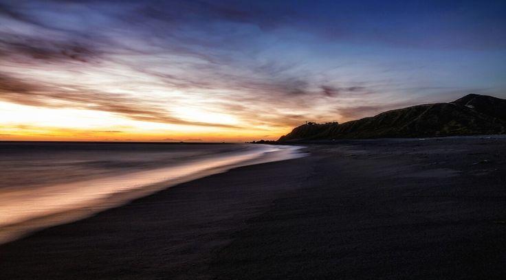 Tonight's Sunset from the Wainuiomata coast
