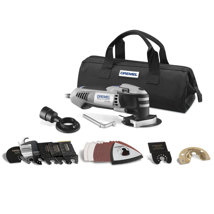 Dremel MM40-03 2.5-Amp Multi-Max Oscillating Ultimate Tool Kit with 29 Accessories. Kit Includes the NEW: Carbide Cutting Blade, Drywall Jab Saw, Multi-Knife and cutting depth guide. Quick Change patented accessory interface for easy and simple accessory changing - No need for a wrench. High-Performance 2.5 Amp Motor (65-Percent more powerful then predecessor and capable of tackling the toughest applications). Soft Start and Electronic Feedback for consistent performance in demanding...