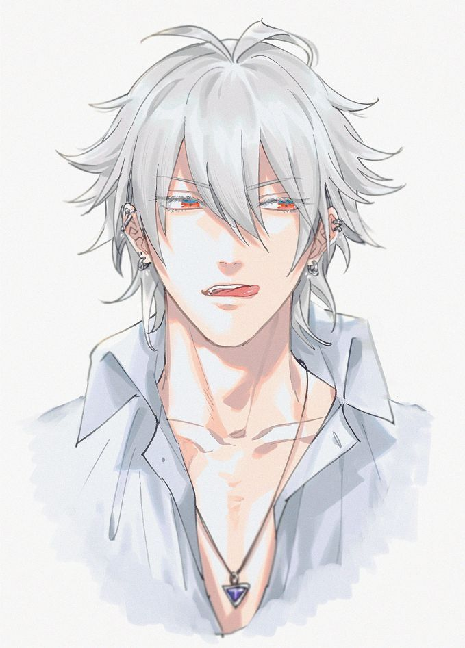 Pin By Melissa Amyx On Hypnosis Mic White Hair Anime Guy Anime White Hair Boy Anime Hair