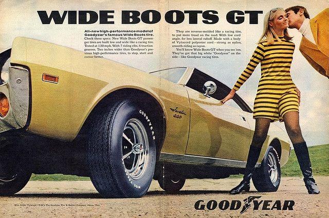 Goodyear reklama z lat 60.  Dobra fura i dobra opona  #opony #reklamy #vintage