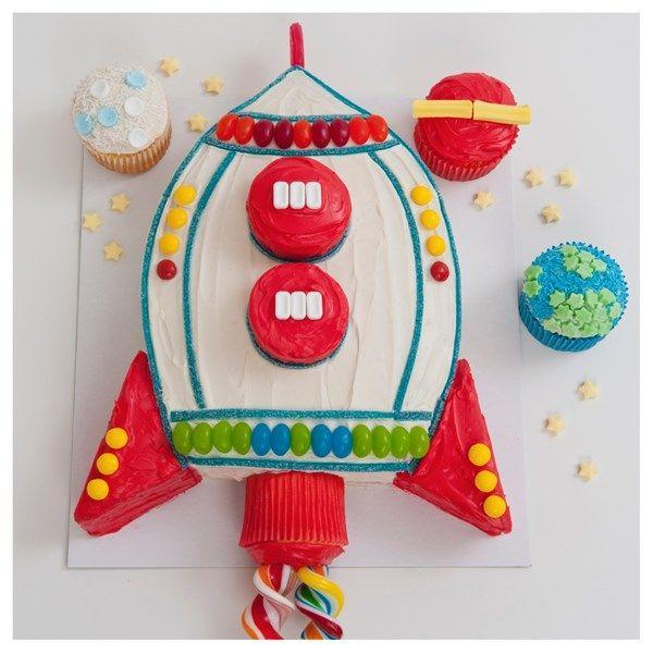 Rocket cake: Mumma Cakes… cake kits.