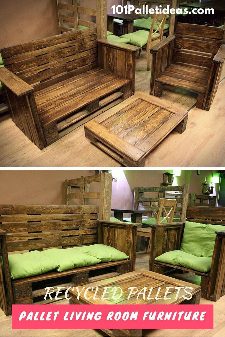 Cabin living room furniture sets - Diy Pallet Living Room Furniture Set 101 Pallet Furniture
