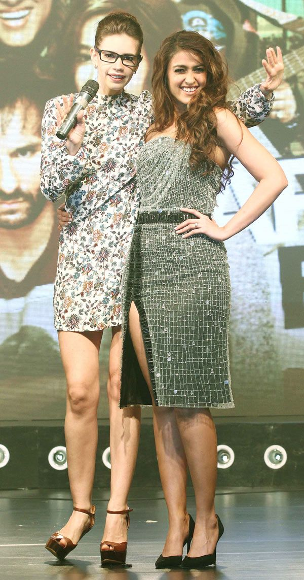 Kalki Koechlin and Ileana D'Cruz at the music launch of 'Happy Ending'.
