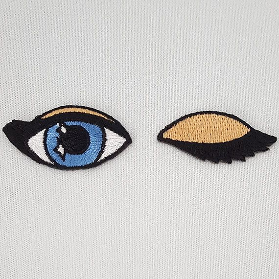 Embroided eyes/Applique patches/badges for by LilCuddles on Etsy