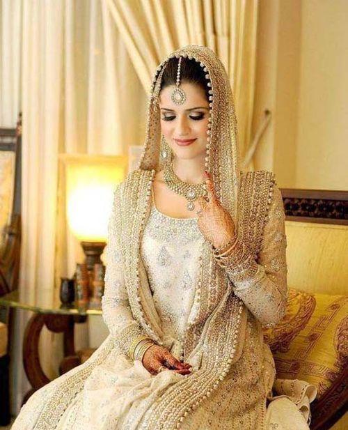 #Gold indian #wedding dress and #asian wedding dress at ownow.com/wedding