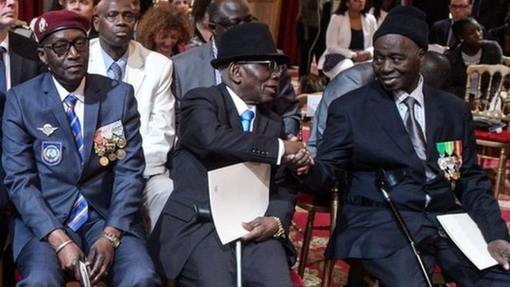 France gives citizenship to 28 African WW2 veterans - BBC News