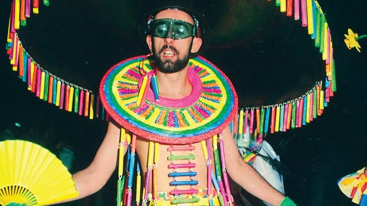 Michael O'Halloran wearing a costume by Ron Muncaster, winner of the 1984 best costume competition, Sydney Gay Mardi Gras Parade, 1984 Photograph by Jenny Templin Reproduced with permission of Jenny Templin