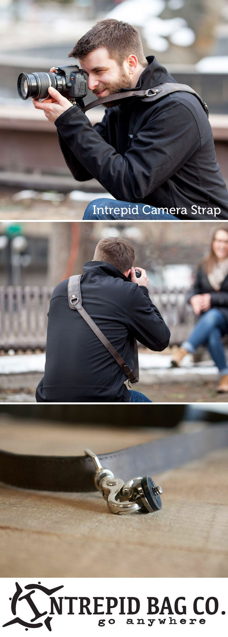 The Intrepid Cross-Body Camera Strap. The most durable and comfortable camera strap around for all your adventures. www.IntrepidBags.com