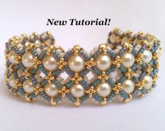 Tutorial for Layer Cake Cuff Bracelet by PeregrineBeader on Etsy