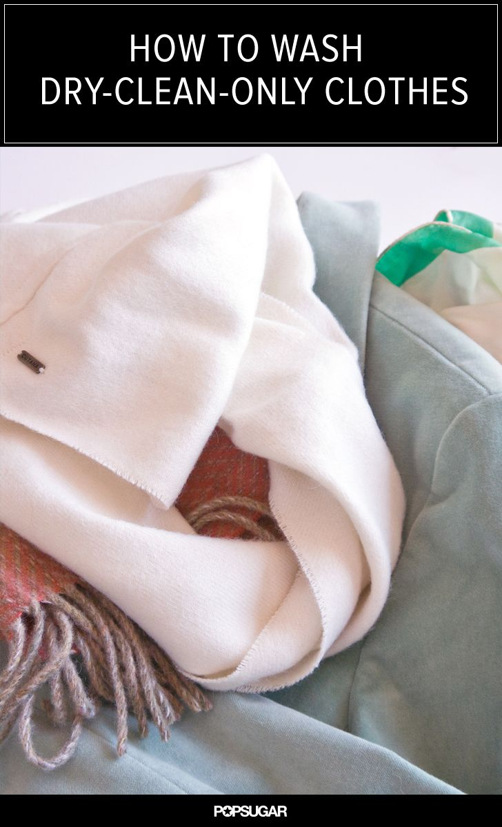 How to Launder Dry-Clean-Only Clothing at Home
