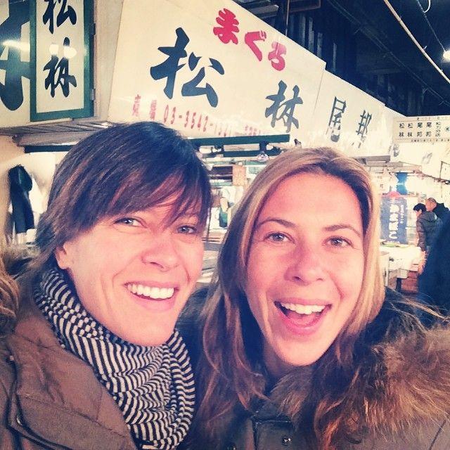 Early morning at the Tsukiji Market (築地市場, Tsukiji shijō) with Fefa