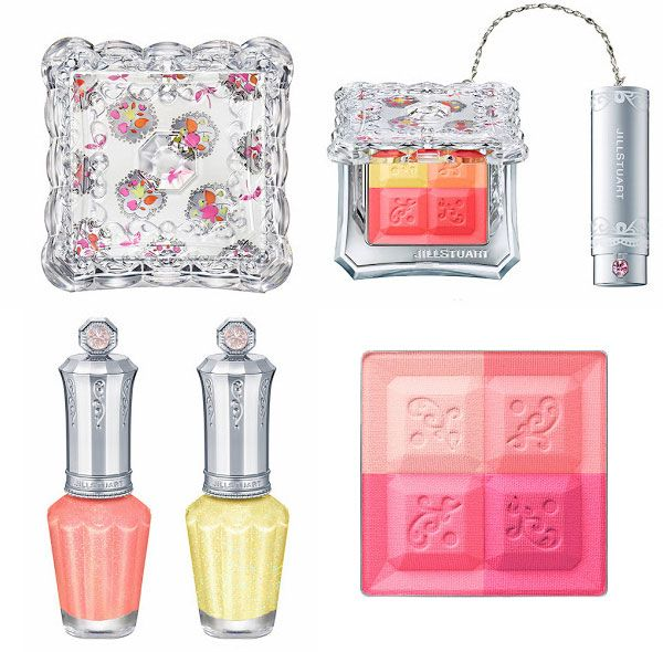 Jill Stuart Thumbelina collection - Mix Blush in Sweet Primrose and Tulip Fields and Nail Lacquer in Love Fool and Sunshine Prism