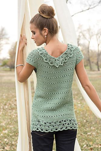 Ravelry: Filigree Shell pattern by Natasha Robarge Interweave Crochet, Spring 2014