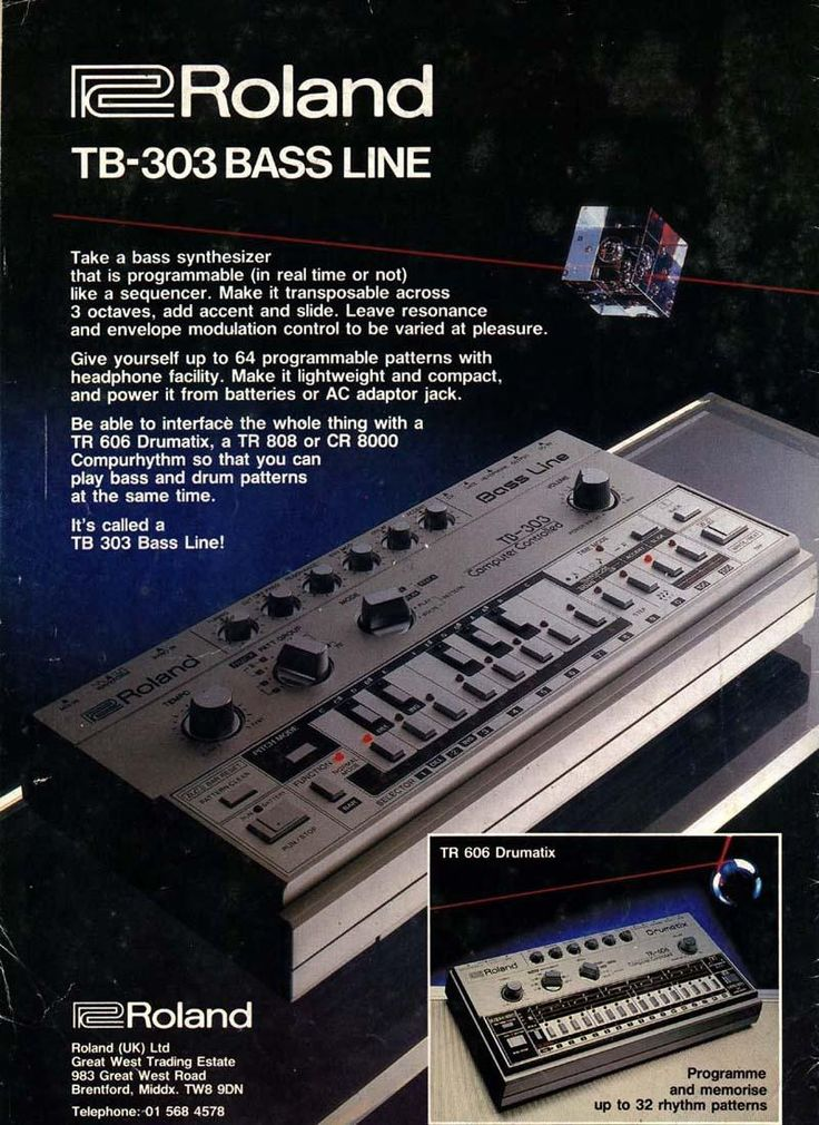 Roland TB-303 Bassline Launched In 1982.