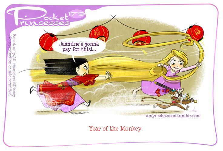 Pocket Princesses 179: Year of the MonkeyPlease reblog, do not repost or remove creditsFacebook page ~ Instagram