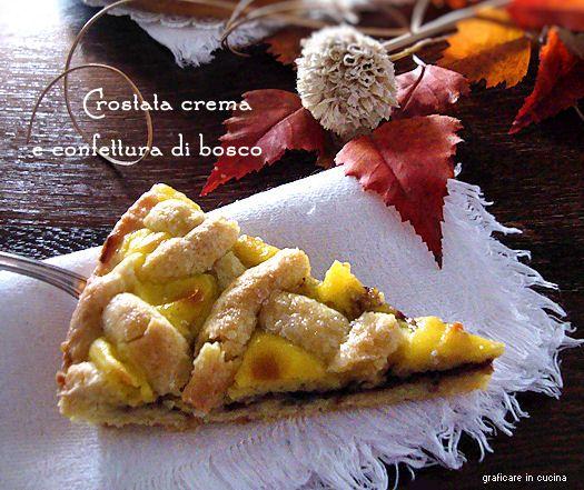 Crostata crema e confettura di bosco http://blog.giallozafferano.it/graficareincucina/crostata-crema-e-confettura-di-bosco/