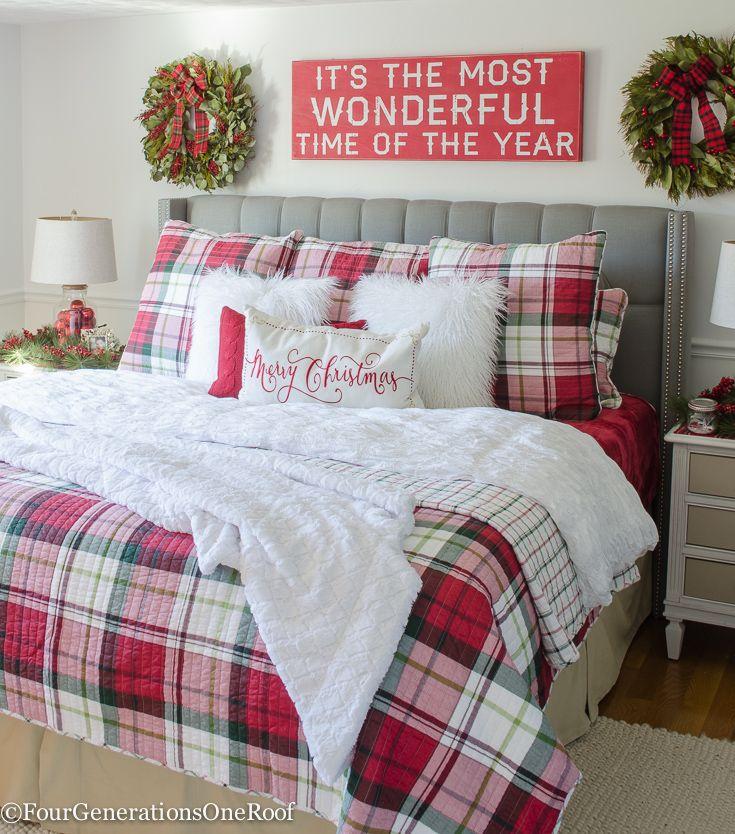 Etonnant Our Plaid Christmas Bedroom 2016