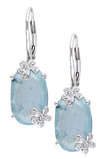 Gorgeous Gems: Jewelry Event  Diamond & Aquamarine Earrings