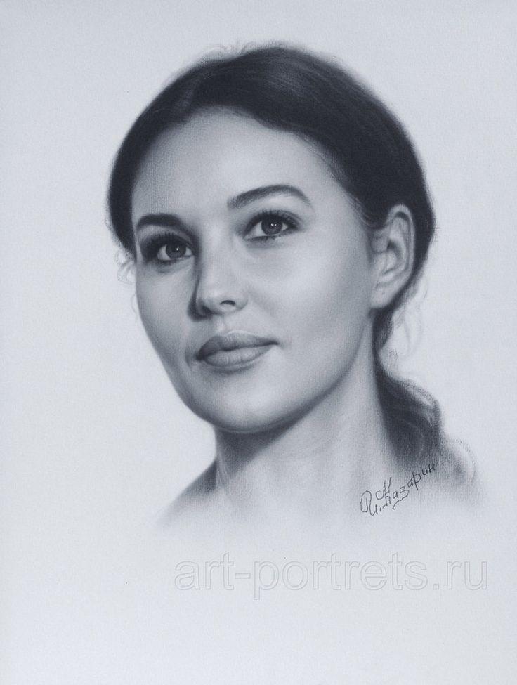 Portrait Monica Bellucci by Drawing-Portraits.deviantart.com on @deviantART