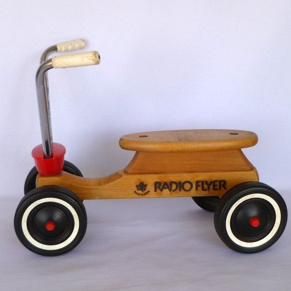 Vintage RADIO FLYER Children's SCOOTER by orangedoorvintage