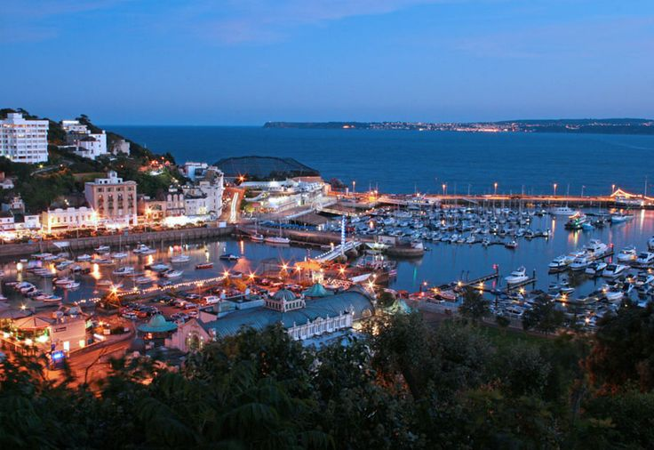 The wonderfully picturesque Torquay at dusk all a glow