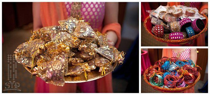 Mehndi favor bags+gifts+bangles