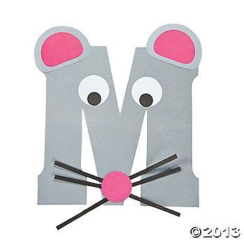 """M Is For Mice"" Letter M Craft Kit..this is so cute to do with every letter and then make a book out of them at the end of the alphabet"