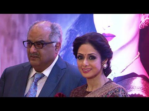 Sridevi with Boney Kapoor at 3rd National Yash Chopra Memorial Awards 2016.