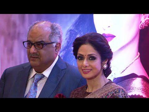 Sridevi with Boney Kapoor at 3rd National Yash Chopra Memorial Awards 2016.