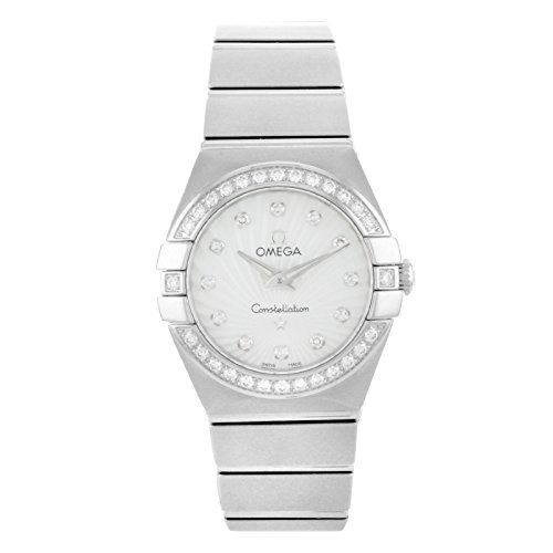 Omega 123.15.24.60.55.002 Constellation Women's Diamond MOP 24MM Watch -- Le...
