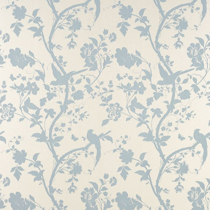 Oriental Garden Duck Egg Floral Wallpaper at LAURA ASHLEY