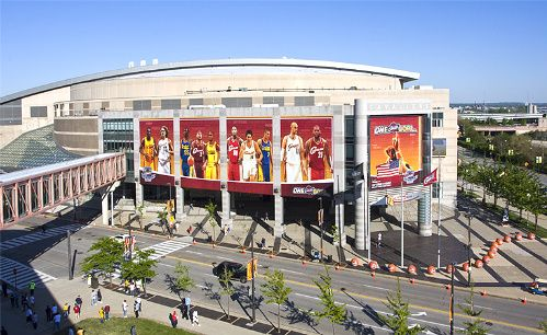 Cleveland Ohio - Quicken Arena - home of the Cleveland Cavaliers (NBA) & Cleveland Gladiators (AFL)