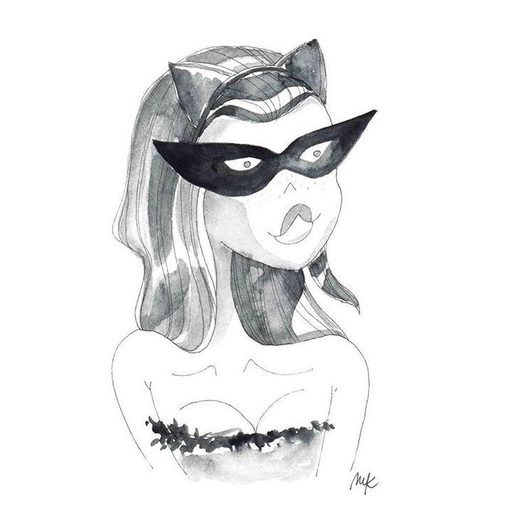 Inktober/2 - cat #illustration #illustrationart #illustagram #inktober #inktober2016 #artistsoninstagram #cat #catwoman #girlsinanimation #character #drawing #sketcheveryday #artsanity #instaart