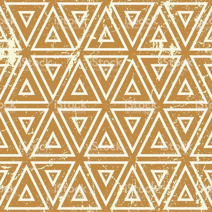 Гранж Бесшовные ретро геометрический узор вектор фон — роялти-фри стоковый вектор искусства
