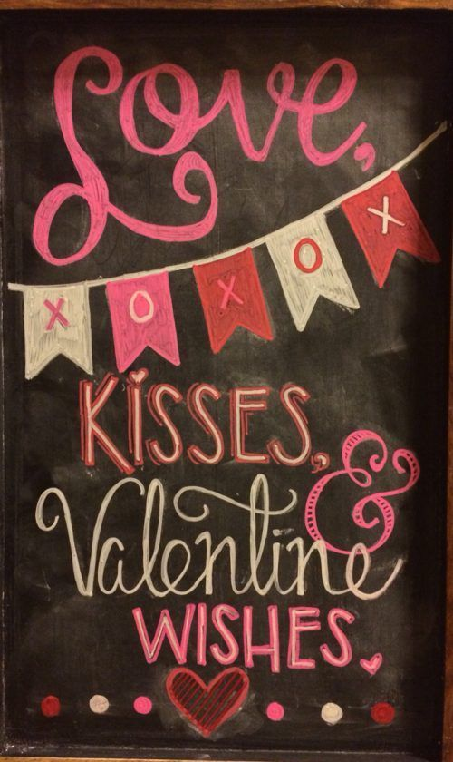 Valentine chalkboard art. Valentine Home Decor Ideas on Frugal Coupon Living.