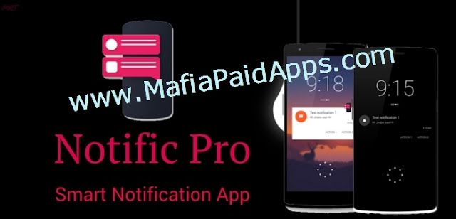Notific Pro v6.3.0 APK   Pro version unlocks : Blacklist or whitelist specific apps.  Notific is lockscreen notification app that displays your notification in an intuitive manner when you need it. It will automatically turn the screen on and display your notification in one of the three themes along with quick action buttons if expansion is enabled.It is not designed to replace your stock lockscreen but to complement it.  You can choose your own style fromThree different themes Jellybean…