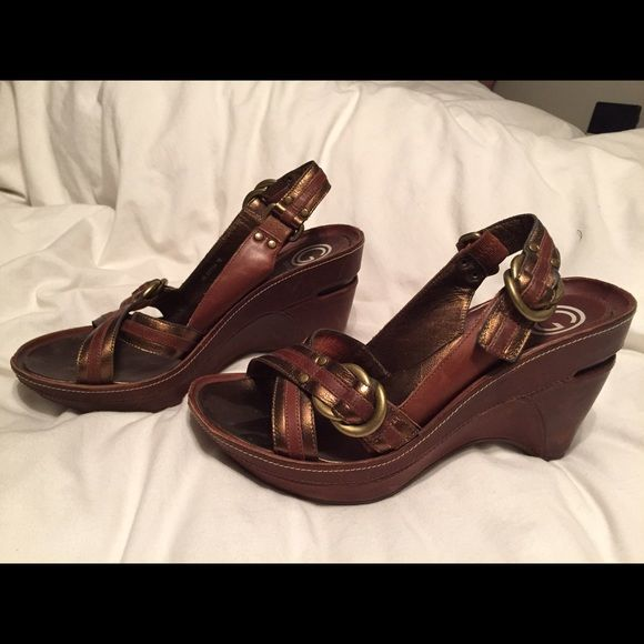 Cole Haan Slingback Wedge Kyla G Series Nike Air Bronze Leather Slingback. New without Box. Cole Haan Shoes Wedges
