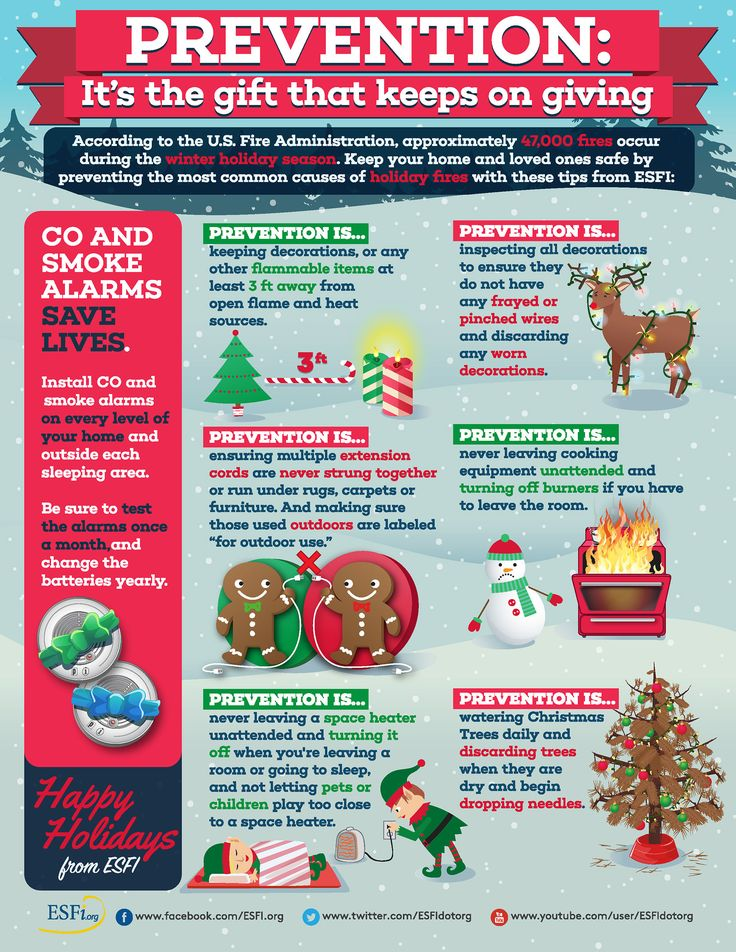 Add safety to your holiday marketing mix in December. Everyone can relate to these tips. #socialmedia #December #safety #infographic