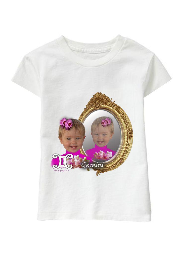 Gemini Girl personalized T-shirt www.ghigostyle.com