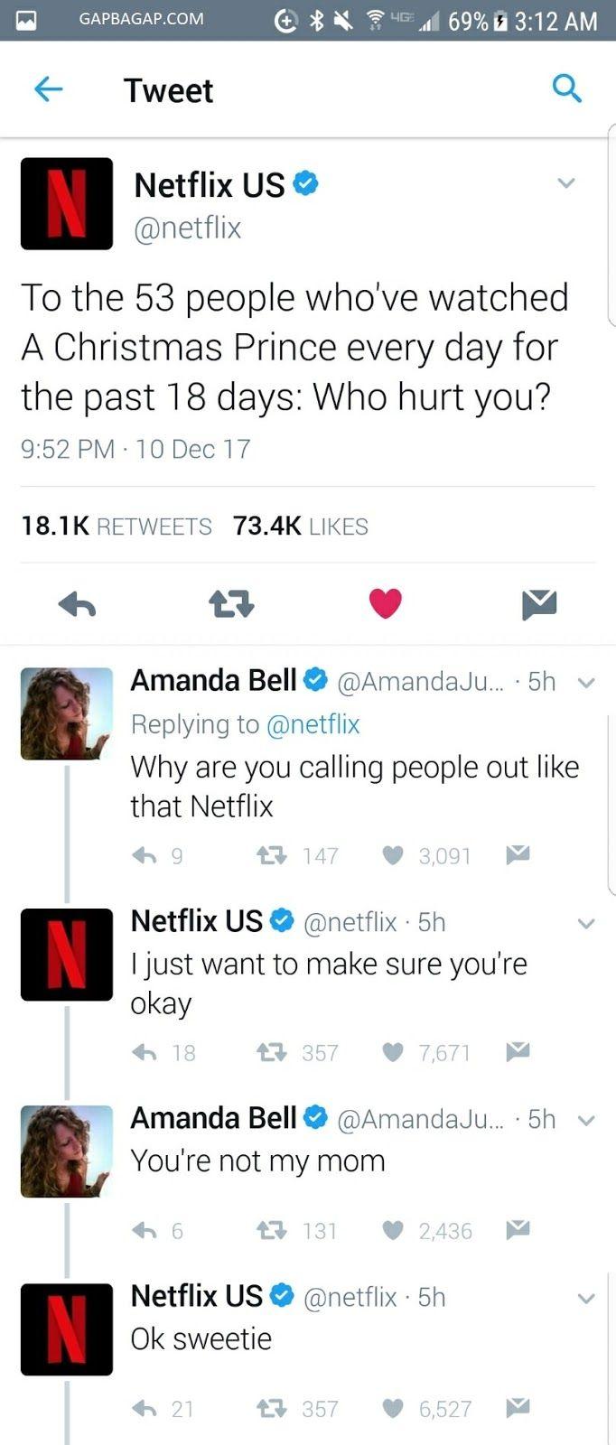 Hilarious Tweets About Netflix vs. Amanda Bell