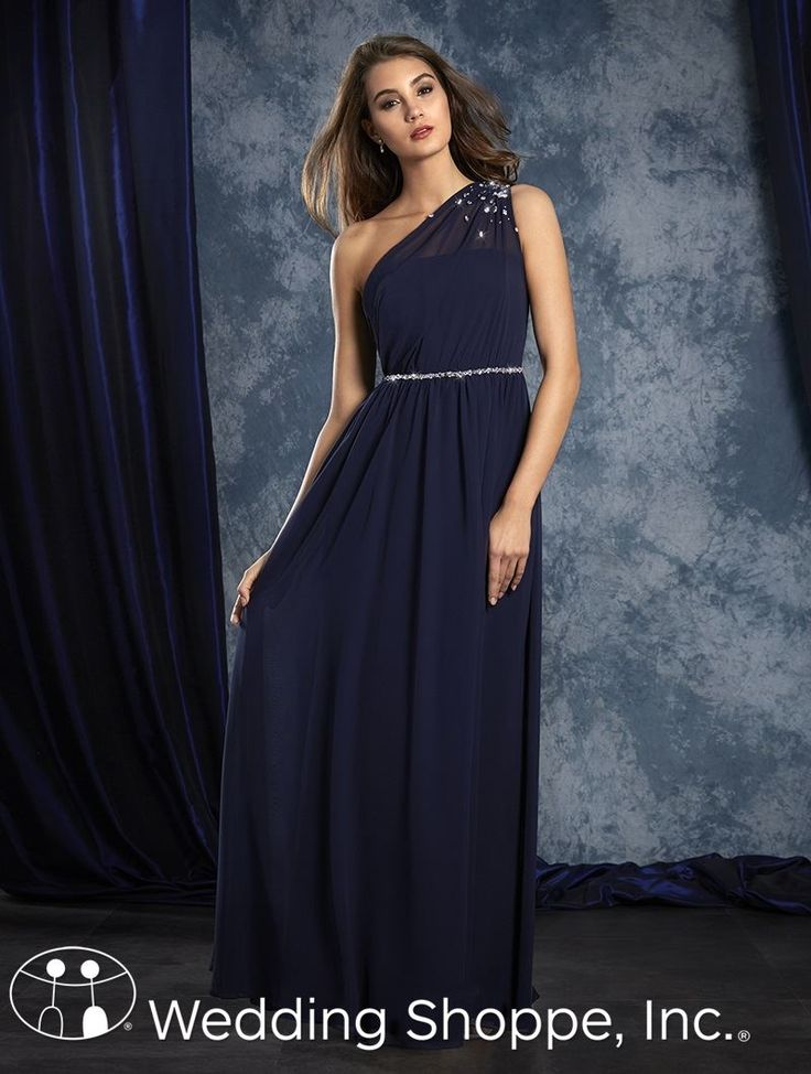 Alfred Angelo Bridesmaid Dress 8109L in Cobalt
