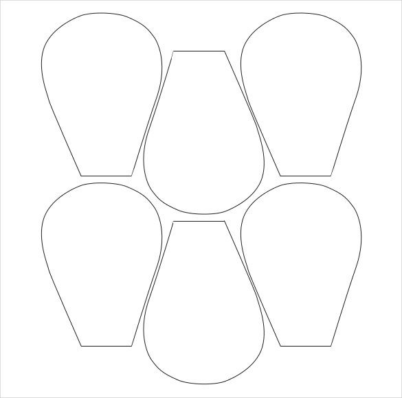 It is a graphic of Comprehensive Printable Flower Petal Template Pattern