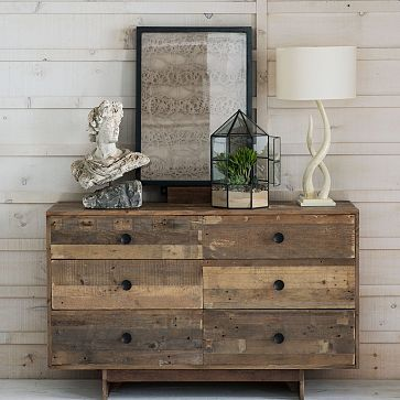 reclaimed pine dresser | west elm (matching night stands, too)