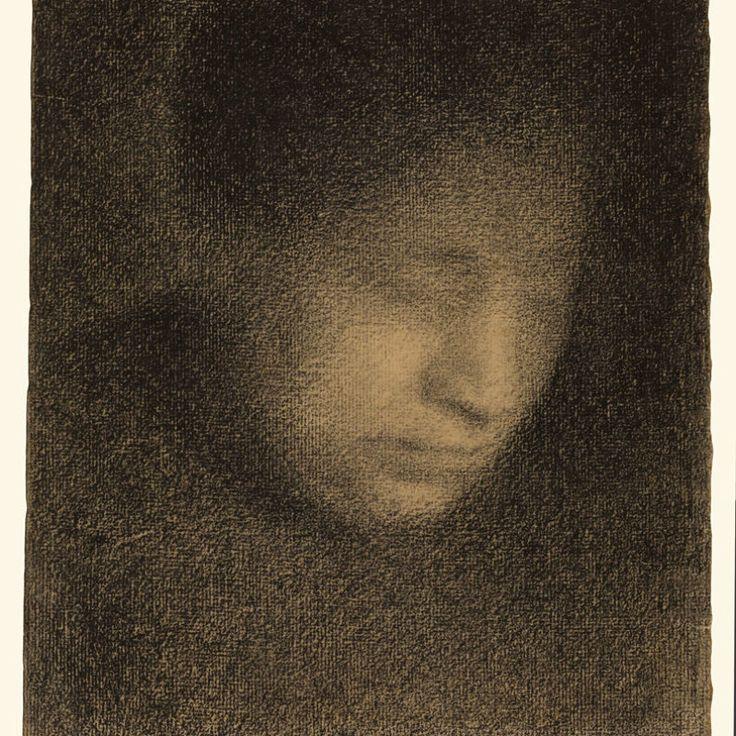 Georges Seurat, Madame Seurat, mère (Madame Seurat, the Artist's Mother), ca. 1882–83, Conté crayon. THE J. PAUL GETTY MUSEUM, LOS ANGELES