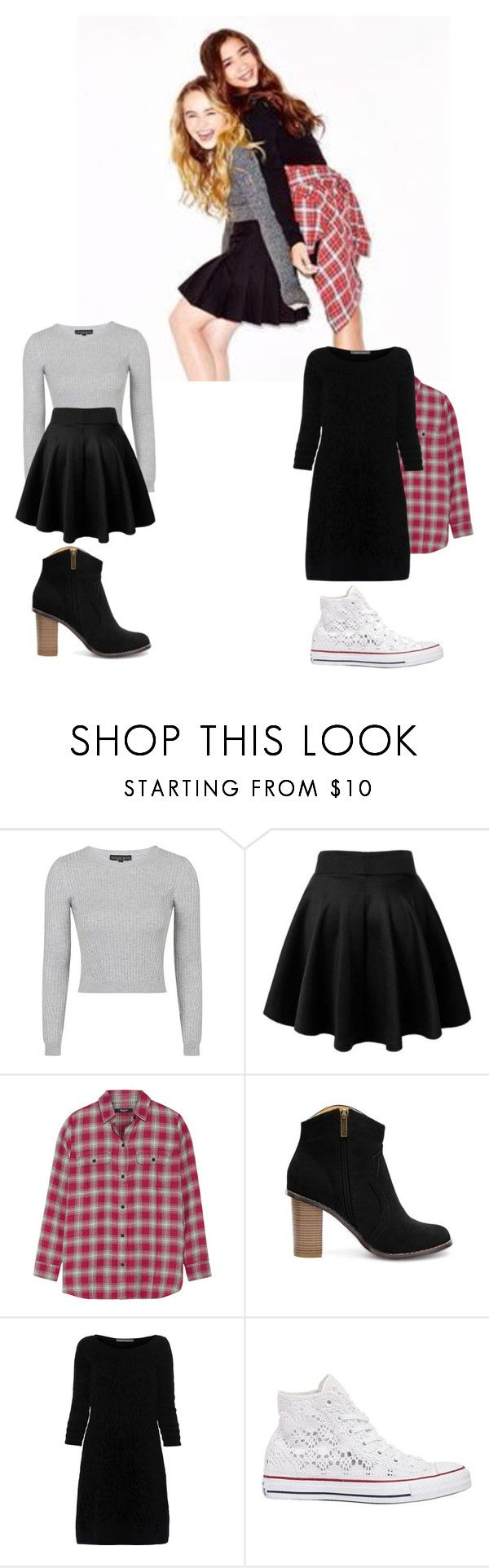 """Maya hart and riley matthews"" by mqweber ❤ liked on Polyvore featuring Topshop, Madewell, Alberta Ferretti, Converse, women's clothing, women's fashion, women, female, woman and misses"