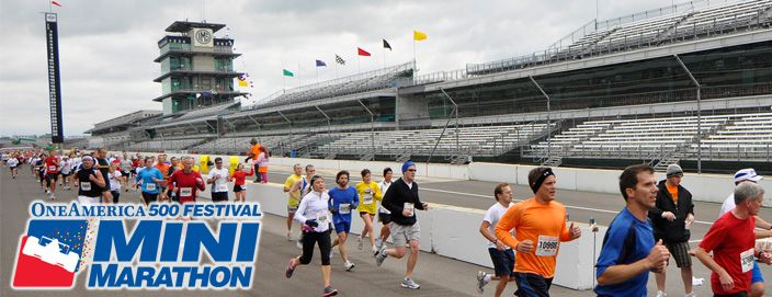 The Indy 500 festival Mini-Marathon.  You and 34,999 others tour Indianapolis and do one lap around the Indianapolis Motor Speedway - Home of the Indy 500.  The nation's largest 1/2 marathon. - to view ALL half marathons across the USA, visit http://www.halfmarathonsearch.com