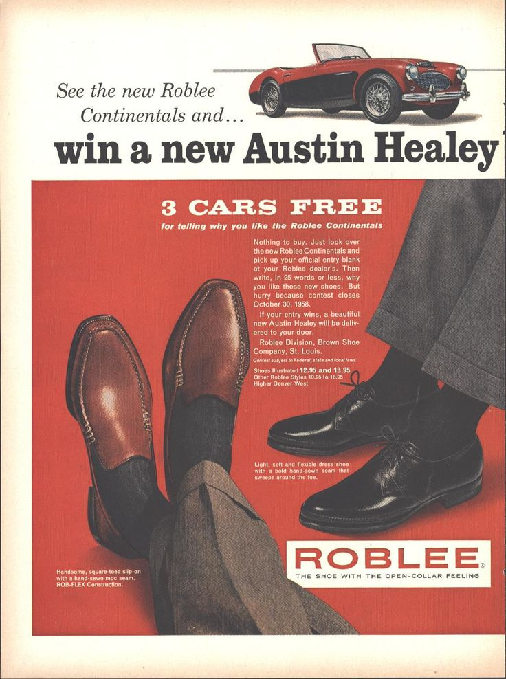 Rob Lee Shoes Contest Page LIFE October 13 1958